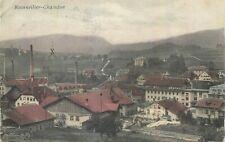 Suisse Reconvilier - usines et cheminées cpa c.1919 rare