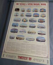 Original Vintage Portfest '89 Poster Vessels Of The Upper Hudson River
