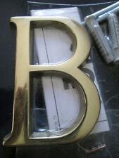 Hausnummer Nr. B messing   8 cm x 5 cm  Fa. Hoppe