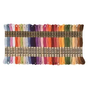 DMC Stranded Cotton Cross Stitch Thread Skein Mouline Colours 3022 to 3685 8m