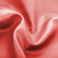 Red Faux Leather Leatherette Upholstery Material FR Fabric Fire Resistant Vinyl
