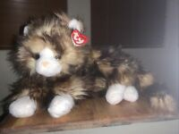 "Ty Classic 12"" Jumbles Tabby Calico Kitty Cat Stuffed Animal Plush"