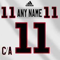 Chicago Blackhawk Adidas White Jersey Any Name Any Number Pro Lettering Kit