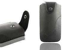Universal Luxus Leder Gürtel Tasche Halter Hülle Holster für Handys