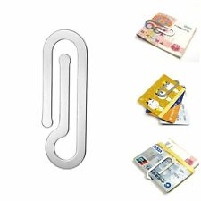 EDC Stainless Steel Money Clip Paper Clip Credit Card Holder Wallet Multi Tool