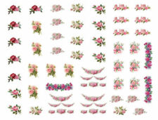 Dollhouse Miniature Shabby Rose Assortment Vintage Repro Decals Découpage Min100