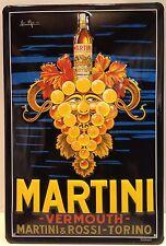 Martini Grapeface Embossed Vintage Steel Sign