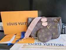 Authentic Louis Vuitton M44840 Multi Pochette Accessories handbags Purse Pink