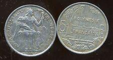 POLYNESIE francaise 5 francs 1986