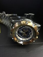 Mens Invicta Reserve Venom 16808 Master Calendar Gold Tone Blue Watch New