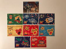 """TOY STORY SERIES 1 (Skybox/1995) Complete """"BADGE"""" Sticker Set of 8 w/ PROMO #S1"""