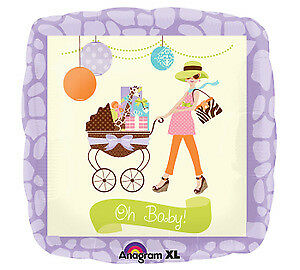 Soft Pastels Modern Mommy Momma OH BABY Baby Shower Balloon