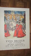 superbe affiche lithographiée d' YVES BRAYER ( 1972)