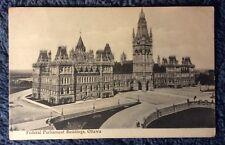FEDERAL PARLIAMENT BUILDINGS OTTAWA CANADA POSTCARD 1900s #L702