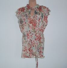 Atmosphere Ladies White Floral Top Size UK 14, EUR 42