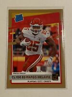 Clyde Edwards-Helaire 2020 Donruss Press Proof Bronze Rated Rookie Chiefs Rare!