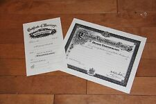 Canadian Pre WW1 Marriage Certificate / WW1 Death Certificate Reproduction