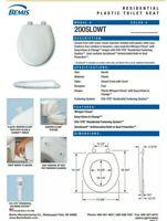 Bemis 200SLOWT-541 Round Plastic Slow Close Toilet Seat - SUNLIGHT