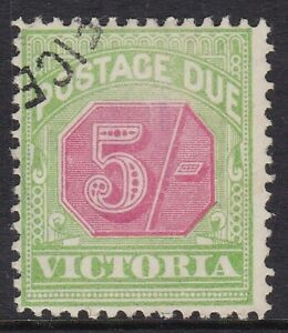 VICTORIA - POSTAGE DUE 1895-96 5s VERY FINE USED, CAT £40