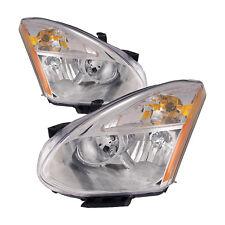 Fits Nissan Rogue 09-12 Headlights Left Right Headlamps Pair Set Halogen New