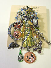 KIRKS FOLLY MAGIC OF HALLOWEEN WIZARD PIN/PENDANT NWT