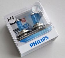 Original PHILIPS Crystal Vision H4  4300K Car Bulbs(a pair)