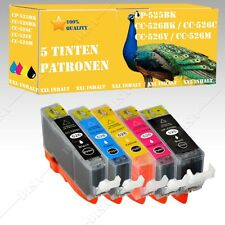 5 x Ink cartridges suitable for Canon Pixma 525-526 MG6150 / MG6250