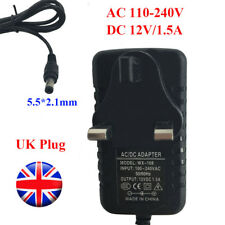 AC 100-240V to DC 12V 1.5A UK Plug Monitor LED Power Supply Adapter  5.5*2.1 mm