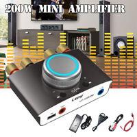 12-24V 200W 2CH Mini bluetooth Amplifier Stereo HiFi DSP Digital Amps Home Car