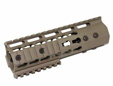 "FDE 7"" ULTRA-LIGHT Super Slim KEYMOD Handguard Free Float with 2 rails"