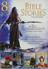 Bible Stories Collection: 8 Movies (DVD, 2013, 2-Disc Set) Omar Sharif, FREE S&H