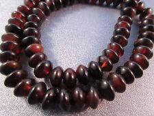 Tibetan Brown Agate Bead Roundel 83pcs