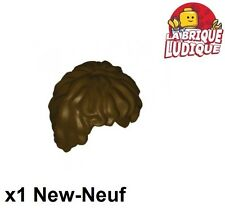 Lego - 1x Minifig cheveux coiffure hair lotr marron foncé/dark brown 10048 NEUF