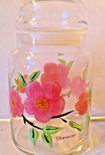 VINTAGE Signed* Franciscan * DESERT ROSE *GLASS*CANISTER*COVERED JAR