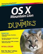 OS X Mountain Lion For Dummies, LeVitus, Bob, Very Good Book