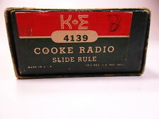 Vintage K&E Keuffel & Esser Cooke Radio Slide Rule 4139 Leather Case - Rare Find