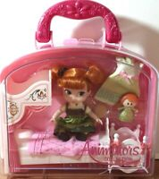 "DISNEY ANIMATORS' COLLECTION FROZEN ANNA 5"" MINI DOLL PLAYSET NEW NWT CANOPY"