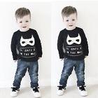 Batman Enfants Bébé Garçon Pull Manches Longues pull t-Shirt Tout Petit Haut