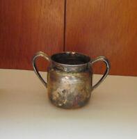 Vintage Mulholland Silver Co EPNS 1838 Nickel Silverplate Sugar Bowl Patina