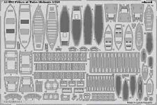 Eduard 1/350 Prince of Wales Lifeboats 53092 details set for Tamiya