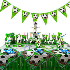 Soccer Football Birthday Party Boys Tableware Decoration Kids Tablecloth Banner