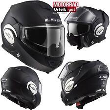 LS2 Klapphelm FF399 VALIANT MONO Motorrad Helm mit Pinlock Sonnenblende M 57/58