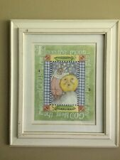 """Kelly B. Rightsell 14.5 x 17""""  Moon and Rabbit  Signed"""