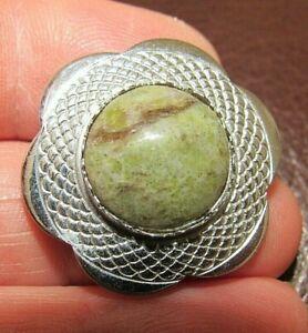 VINTAGE SIGNED MIZPAH JEWELLERY SCOTTISH CELTIC IRISH CONNEMARA AGATE BROOCH PIN
