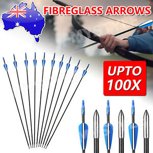 "31"" HEAVY DUTY FIBERGLASS/ALUMINUM ARROWS FOR Archery Hunting Compound Bow HOT"