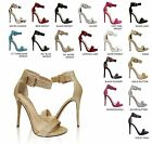 Delicious Canter Women's Open Toe Ankle Strap Stiletto Heel Dress Sandals