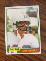 1981 Topps #482 Bob Griese Miami Dolphins NrMt