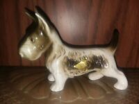 "Royal Dux  Czech 3"" Scottish Terrier Dog Figurine Original Stickers Excellent!"
