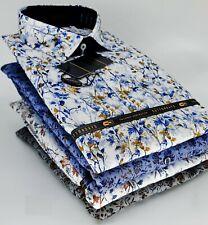 NEW Men's 100% Cotton Shirt Long Sleeve Floral Party Beach Hawaii Causal Shirts