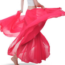 Belly Dance Arabic Costume Long Full Circle Chiffon Skirt & Top Performance